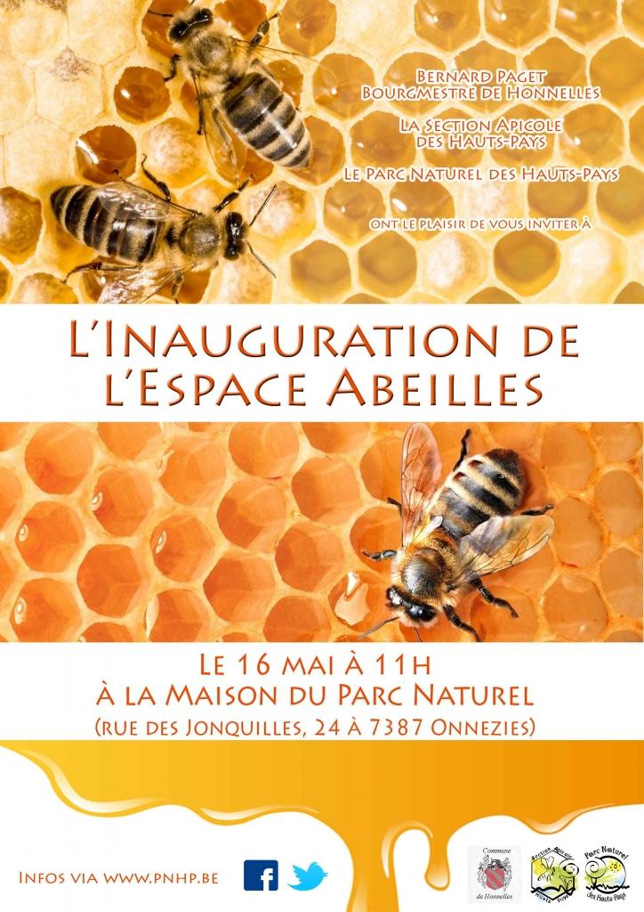 affiche inauguration espace abeilles net