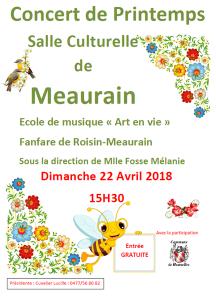Concert de printemps @ Salle culturelle de Maurain | Honnelles | Wallonie | Belgique