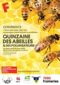 """Conférence """"Avoir une ruche chez soi : avantages, bénéfices et contraintes"""" @ Hôtel de Ville de Frameries"""